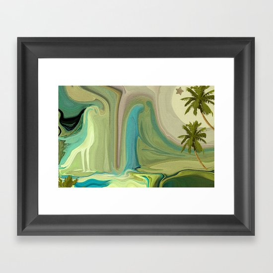 LADY IN BLUE DO I KNOW YOU? Framed Art Print