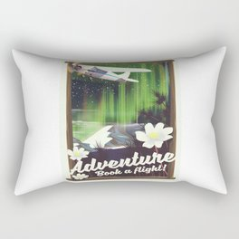 Adventure Book a Flight! Rectangular Pillow