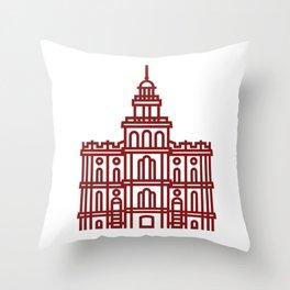 St. George Utah Temple - Orange Throw Pillow