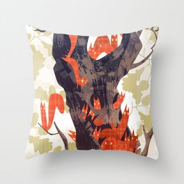 The Devils of Dark Bark Throw Pillow