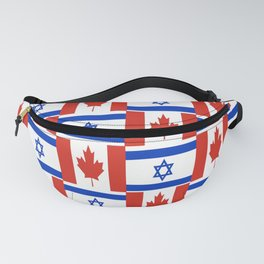 Mix of flag: canada and israel Fanny Pack