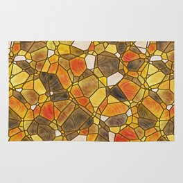 stained glass mosaic Rug