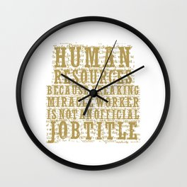 HUMAN RESOURCES Wall Clock