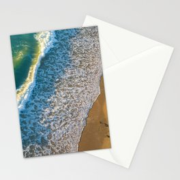 Waves on The California Coast Aerial Nature Photography Stationery Cards