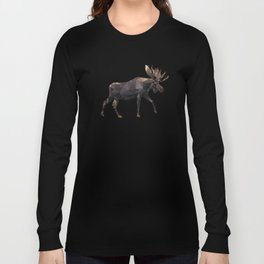 Polygon geometric Moose Long Sleeve T-shirt