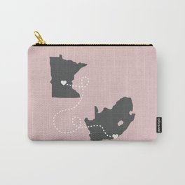 Minnesota to South Africa - Pink Carry-All Pouch