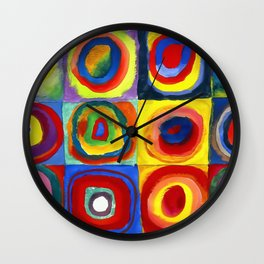 Kandinsky, Farbstudie - Quadrate und konzentrische Ringe, Color Study. Squares with Concentric Circles 1913 Wall Clock