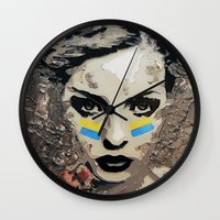 ukraine Wall Clocks featuring Ukraine, Stand Up! by AsyaCreativeArt