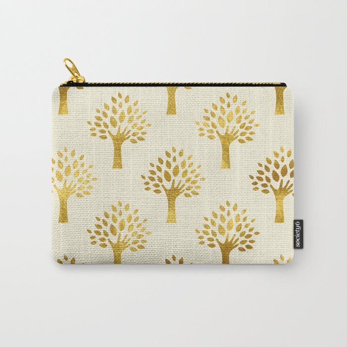 Cream Gold Foil 02 Carry-All Pouch