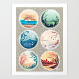 Colorful Landscapes Art Print