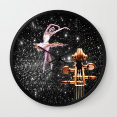 Violin and Ballet Dancer number 1 Wall Clock