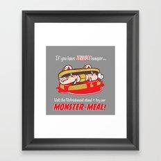 Monster meal Framed Art Print