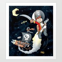 Space Pirate Gilly Art Print