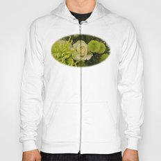 White and Green Arrangement Hoody