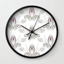 Art Deco 38. Rosebud . Wall Clock
