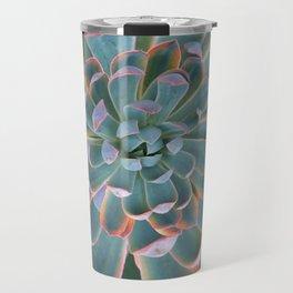 GREY-PINK ECHEVERIA SUCCULENT DESERT PLANT Travel Mug