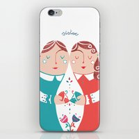 sister iPhone & iPod Skins featuring Sister by Michela Gaburro