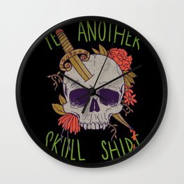 Yet Another Skull Shirt Wall Clock