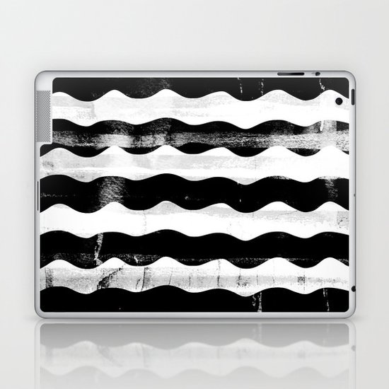 Black Waves Laptop & iPad Skin