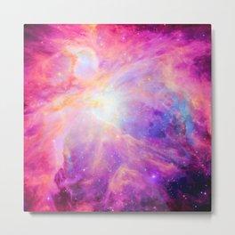 Pink Purple Orion NebulA Metal Print