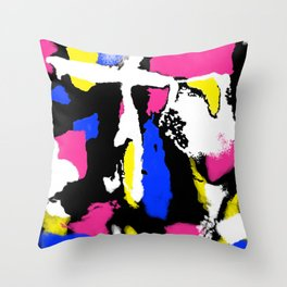Abstract Splash in Black Throw Pillow