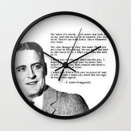 F Scott Fitzgerald quotes - For what it's worth Wall Clock
