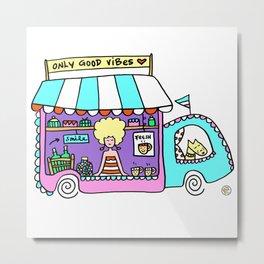 coffee food truck van Metal Print