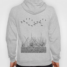 black and white winter landscape Hoody