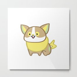 Yamper electric corgi cartoon Metal Print