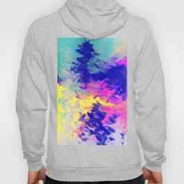 Neon Mimosa Inspired Painting Hoody