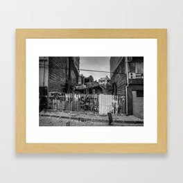 Istanbul: A Fusion of Black and White Framed Art Print