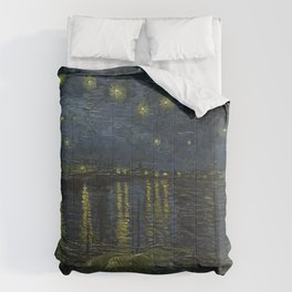Starry Night Over the Rhone by Vincent van Gogh Comforters