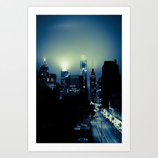 Philly glow Art Print