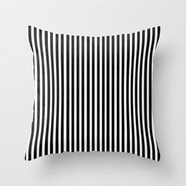 Home Decor Striped Black and White Throw Pillow