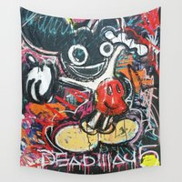 deadmau5 Wall Tapestries featuring Mickey Mau5 by Matt Pecson