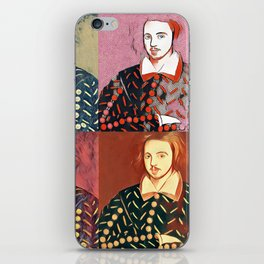 CHRISTOPHER MARLOWE (POET, ELIZABETHAN, SPY) iPhone Skin