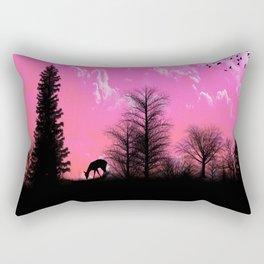 Amazing Sunset Silhouette Rectangular Pillow