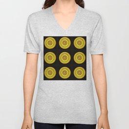 Circle #3  Multiplied Unisex V-Neck