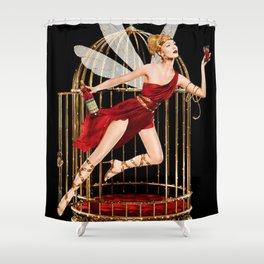 Vintage Bitter Campari Fairy Lithograph Advertisement Shower Curtain