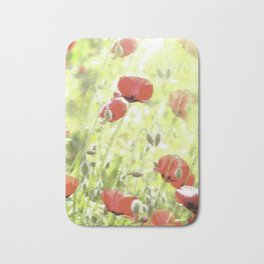 Poppies in the bright sunshine Bath Mat