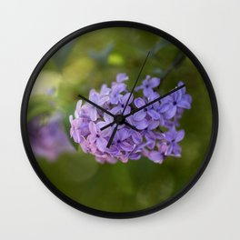 Lilac syringa in LOVE - Spring Tree Flower photography Wall Clock