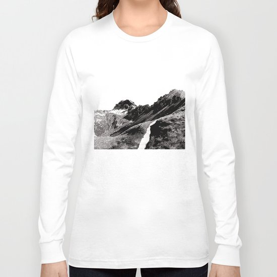 The road below the mountains Long Sleeve T-shirt