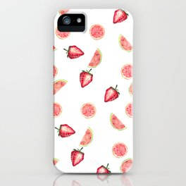 Fruit Slices Pattern iPhone Case