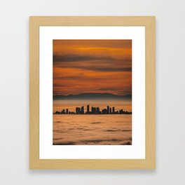 Vancouver - Sea of Clouds Framed Art Print