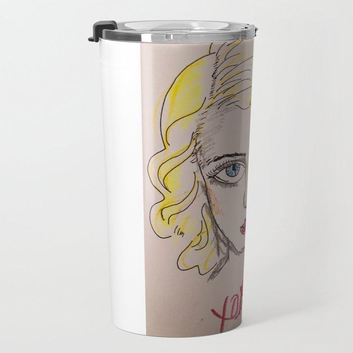 Bette Davis Eyes Travel Mug