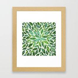 Spring Leaf Mandala Framed Art Print