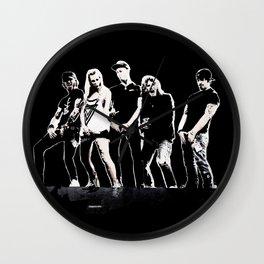 WARNER DRIVE - LIVE CURRENT WALL series - BLACK version Wall Clock