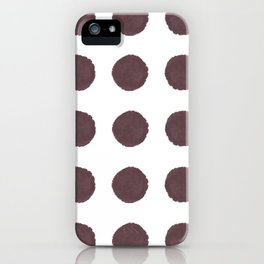 Big Polka Dots in Berry iPhone Case
