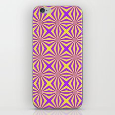 Sunbeams in Violet and Yellow Tiled iPhone & iPod Skin