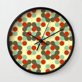 Retro 60s 70s Vintage Circles Geometric Pattern Wall Clock